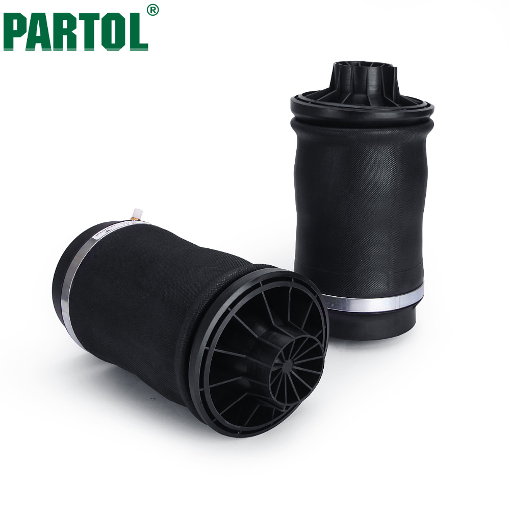 Partol 2pcs/set Rear Air Suspension Spring Bag for Mercedes Benz ML Class 2005~2011 Year Right Left Air Spring Shock Absorber air suspension risidual pressure valve for benz w220 black shock oe 2203202338