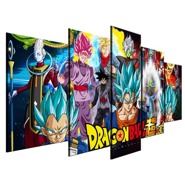 5 Piece Canvas Art Dragon Ball Super Picture Poster Modern Decorative Paintings On Wall Home Decorations