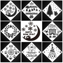 Merry Christmas Happy New Year Sticker Painting Stencils for Diy Scrapbooking Stamps Home Decor Paper Card Template Decoration merry christmas tree sticker painting stencils for diy scrapbooking stamps home decor paper card template decoration album craft