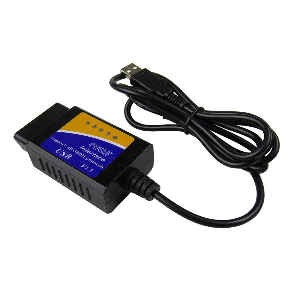 HTB1bh3HjS I8KJjy0Foq6yFnVXa7 ELM327 USB V1.5 OBD2 Car Diagnostic Interface Scanner ELM 327 V 1.5 OBDII Diagnostic Tool ELM-327 OBD 2 Code Reader Scanner