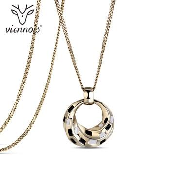 Viennios кулон Цепочки и ожерелья для Для женщин золото длинной цепи падение Цепочки и ожерелья женский Модные украшения