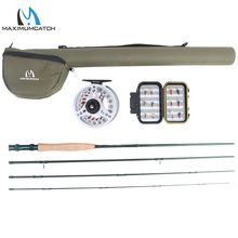 Maximumcatch Excessive 8/9FT 3-8WT Medium-fast Carbon Fiber Fly Rod with Graphite Reel & Fly Line&Deal with Field Triangle Tube