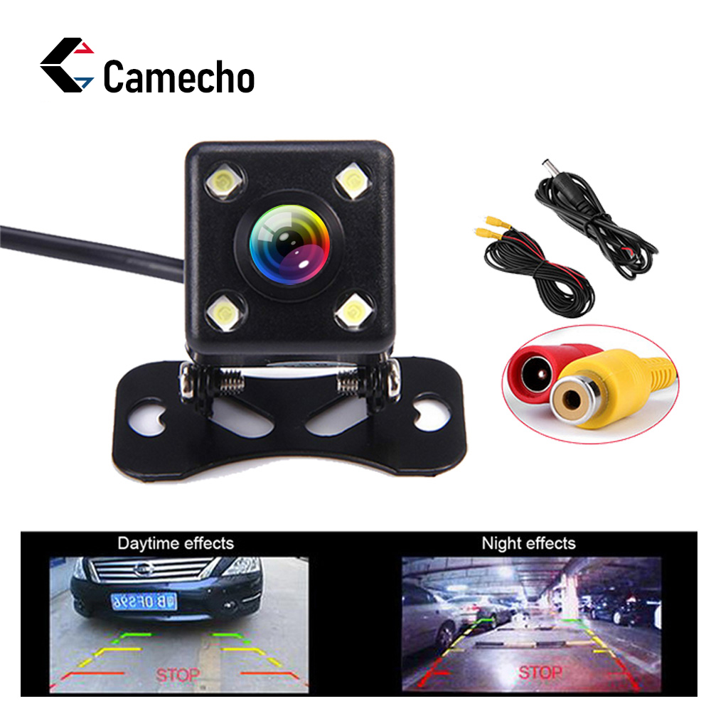 Camecho Car Rear View Camera Metal Body Car Rearview Camera Car Park Monitor 170 Degree Mini Car Parking Reverse Backup Camera