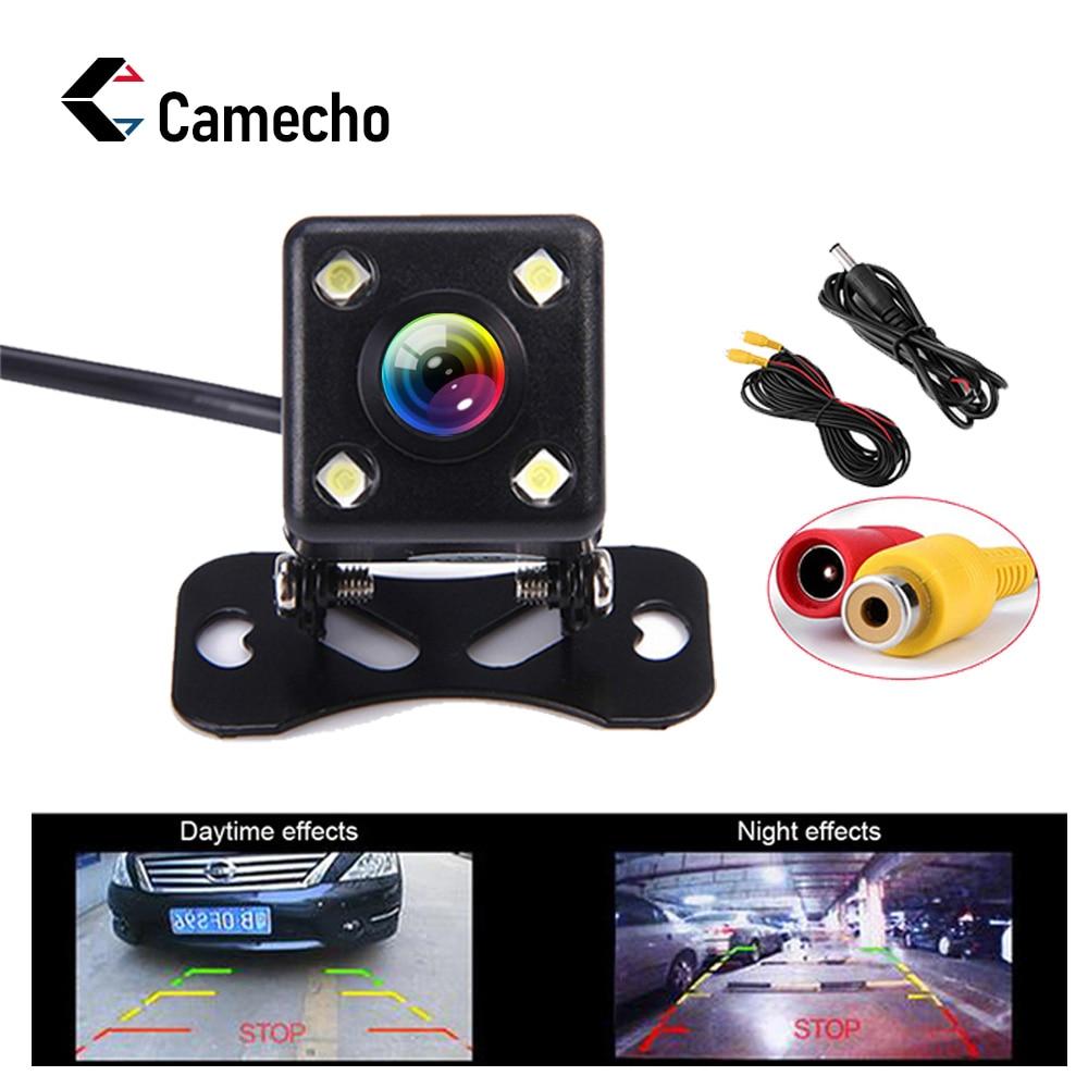 Camecho Car Rear View Camera Metal Body Car Rearview Camera Car Park Monitor 170 Degree Mini Car Parking Reverse Backup Camera