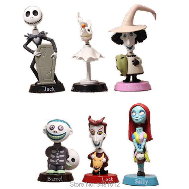 the nightmare before christmas jack skellington sally pvc action figures barrel anime figurines kids toys dolls - Barrel Nightmare Before Christmas