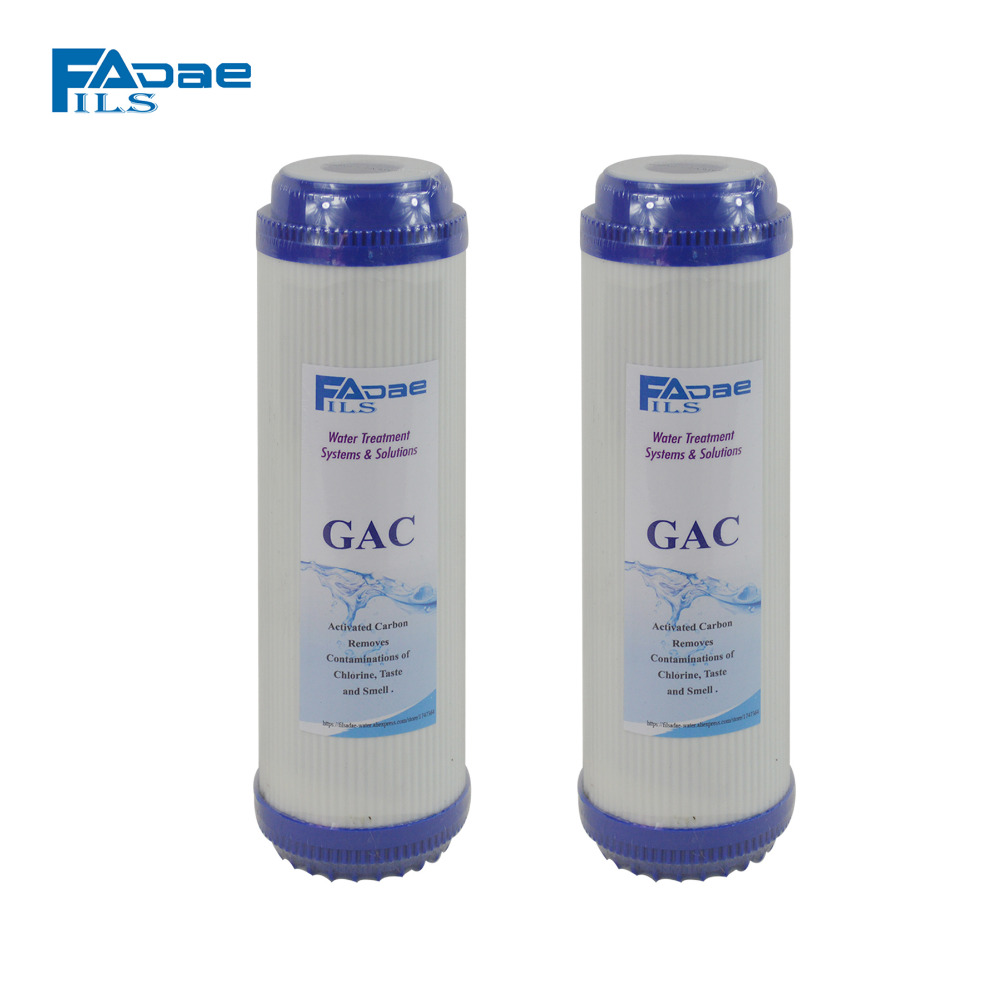 5-Stage Reverse Osmosis Filter Replacement 10x2-7/8 Granular Activated Carbon Water Filter Cartridge(2 PACKED) commercial water purifier pre filter 20 x 2 7 8 granular activated carbon filter cartridge gac
