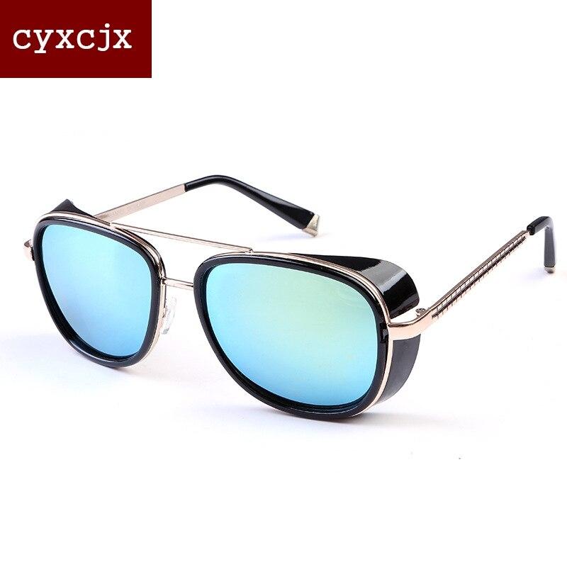 95b2d9b1e539a 2017 Apressado Limitada Masculino Steampunk Óculos De Sol Tony Stark Homem  De Ferro Matsuda Óculos Vintage Retro Óculos de Sol Uv400 Oculos de sol em  Óculos ...