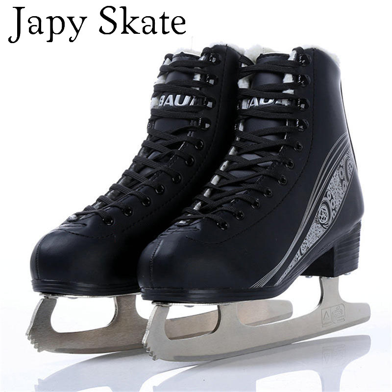 Japy Skate Ice Skate Tricks Shoes Adult Child Leather Ice Skates Professional Flower Knife Ice Hockey