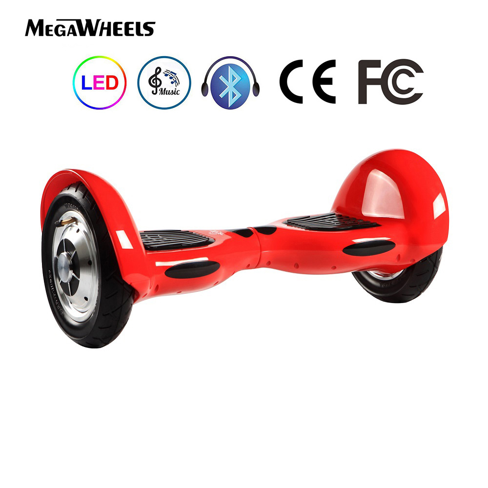 Bluetooth Hoverboard 10″ TW03-1 Electric Self Balance Scooter DE Warehouse DHL Free Shipping CE TUV & RoHS Bag (Red)
