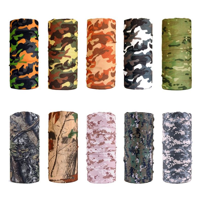 1pcs Multi Camo Pocket Squares Face Mask Cycling Ski Snowboard Wind Proof Hat Cap Cycling Balaclavas Tactical Military Face Mask