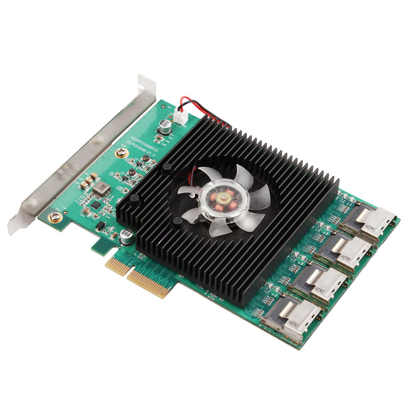 все цены на High Quality New Arrival 16-Port PCI-Express SATA 3.0 16 ports SATA3 6.0 Gbps PCI-e Controller Expansion Card PCIE X4 Support PM онлайн