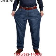 Herfst Plus Big Size Jeans Broek Mannen 6XL 7XL 8XL 9XL 10XL Casual Grote Lange Broek 44 46 48 50 52 Elasticiteit Herfst Klassieke Nieuwe