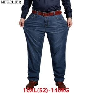 Image 1 - autumn plus big size jeans pants men 6XL 7XL 8XL 9XL 10XL casual large long pants 44 46 48 50 52 Elasticity autumn classic new