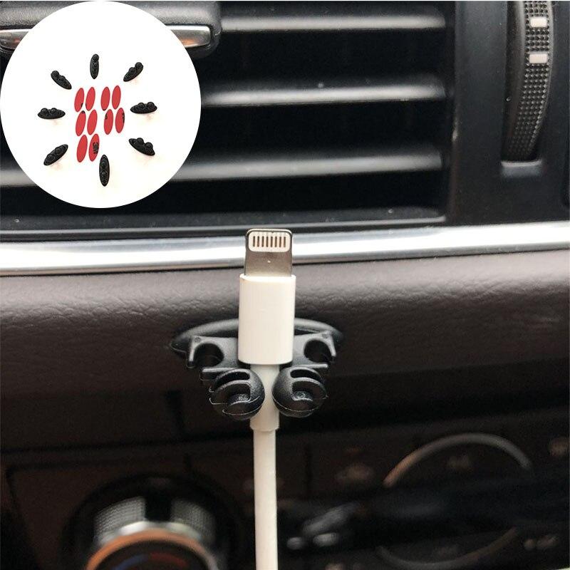 8pcs Car Wire Clip Case For Hyundai SantaFe Veracruz Mistra Tucson Veloster Rohens AZERA Avante IONIQ