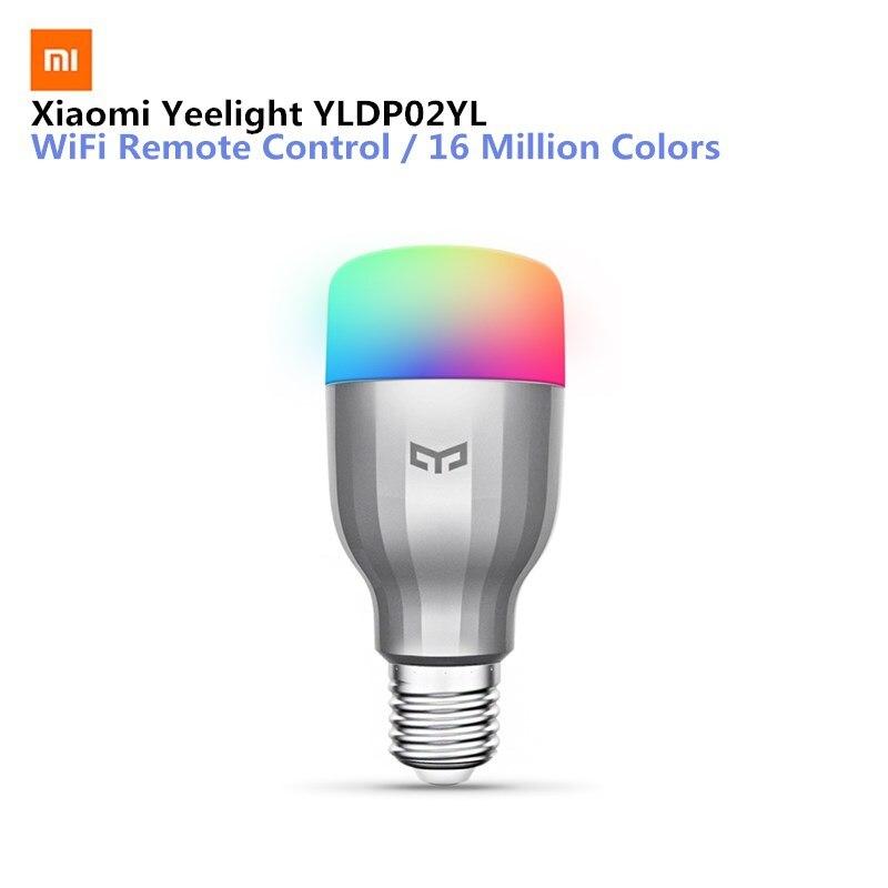Xiaomi YLDP02YL E27 9 W 600LM RGBW bombilla LED inteligente 16 millones de colores WiFi habilitado CCT ajuste soporte Google hogar