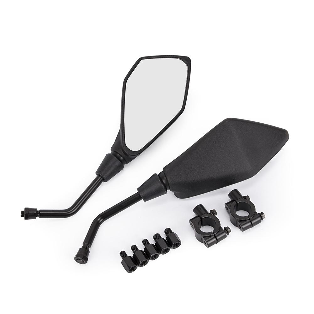 Universal Motorcycle ATV Rearview Mirror With Adapter Code Motorcycle Side Mirror Suitable For Handle Black Color|Side Mirrors & Accessories| |  - title=
