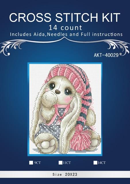 Kreuz Stich, Tier von kaninchen, Handarbeiten, DIY, kreuz-stich kits, stickerei kits, 14ct 16ct 18ct. Kaninchen kits