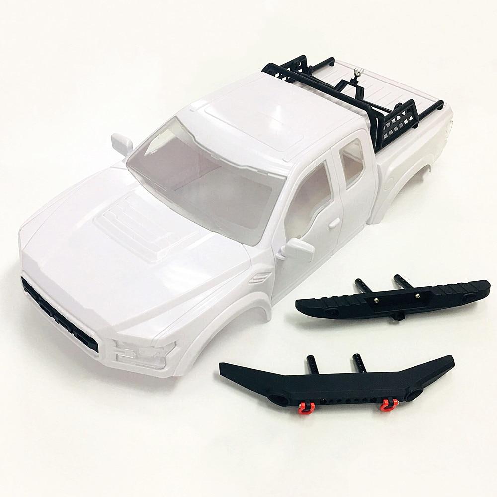KYX Racing ABS ford Raptor Жесткий корпус с бампером и запасной шиной стойки 325 мм корпус оболочки белый для RC Гусеничный автомобиль Traxxas TRX4 TRX-4