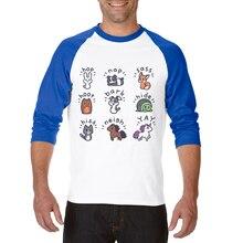 Men T Shirt Funny Cartoon Animals 3D Printed Man T-Shirt Cool Tops Tee Three Quarter Raglan Sleeve Mens Basic T Shirts Camisetas женская футболка 3d 2015 t emoji t camisetas flowers