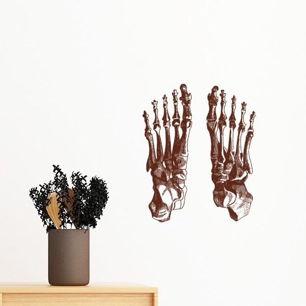 Медицинская наука Скелет людей ребра тазовой кости отойти эскиз съемные стенки Стикеры Книги по искусству наклейки Фреска DIY обои для комна...