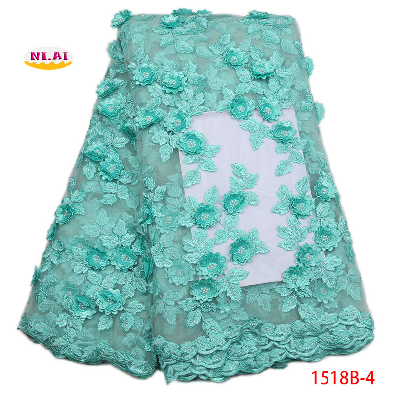 2018 High Quality Peach French Mesh Lace Gold African 3D Lace Fabric Sewing Accessories Nigerian Lace For Dedding DressNA1518B 1-in Lace from Home & Garden    1