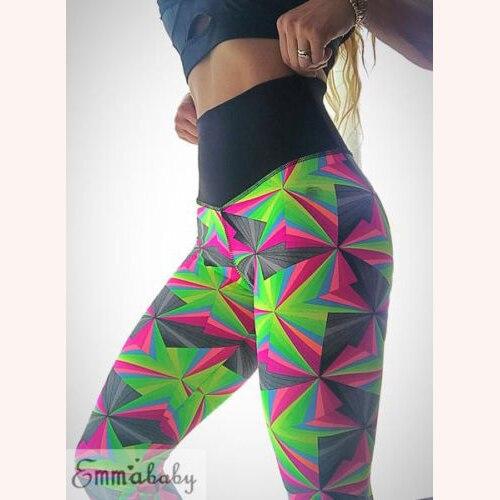 2018 Frauen Leggings Fitness Übung Geometrie Druck Hosen Casual Hosen Damen Kleidung Herbst Mode Neue Heiße Dame Kleidung