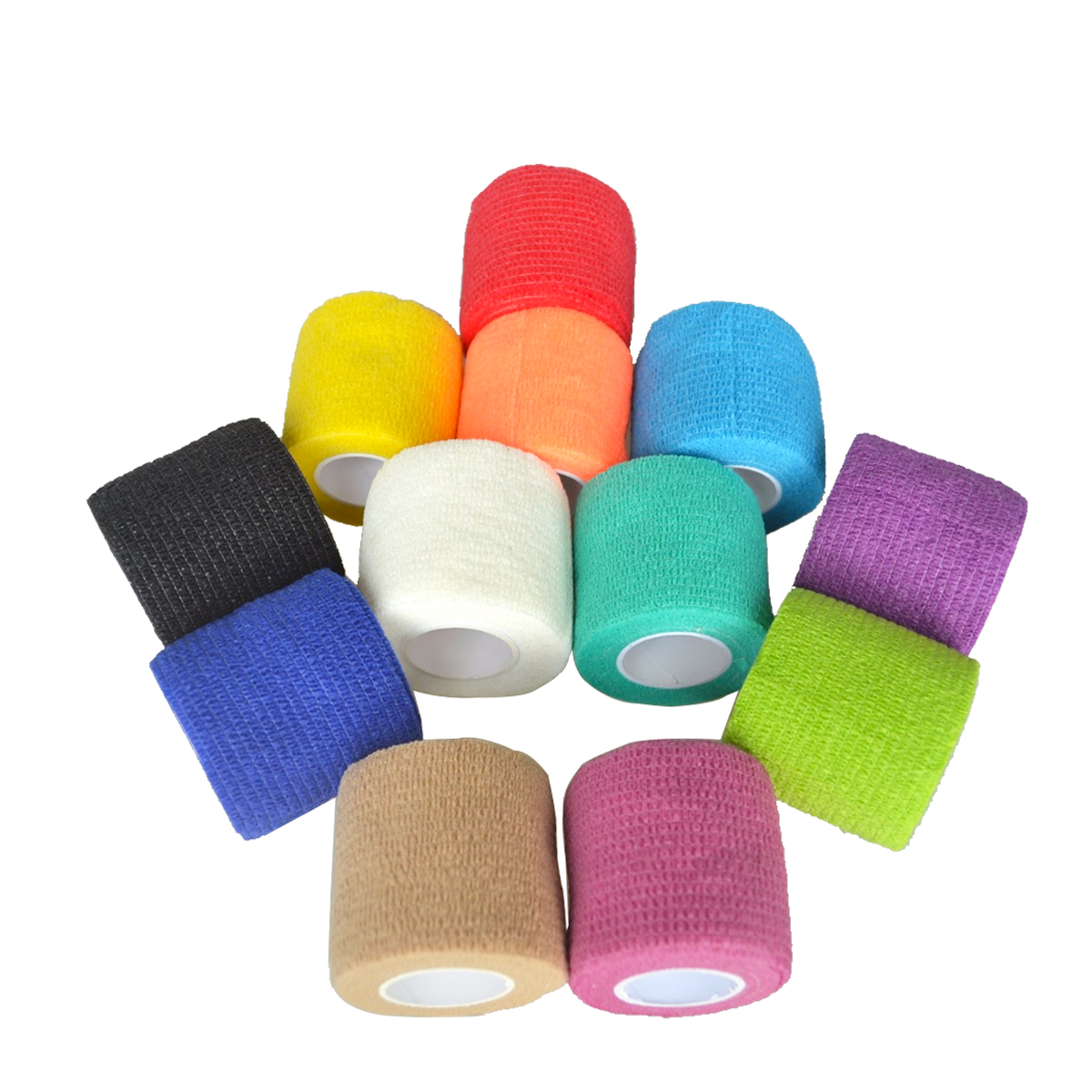 90Pcs/Lot Security Protection Self-adhesive Waterproof Bandage Elastic Cohesive Sports Tape Joint Support Sticker 5cm*5m 48pcs lot waterproof self adhesive nonwoven bandage first aid kit sport protect tape cohesive wound wrap for hand 5cm 4 5m