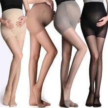Регулируемые высокие эластичные Леггинсы для беременных женщин, Колготки для беременных, ультра тонкие колготки, чулки