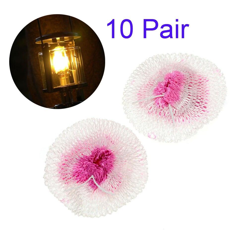 10 pair Linterna De Gas Mantos Ninguna Radiación Resistente Contaminación de Seg