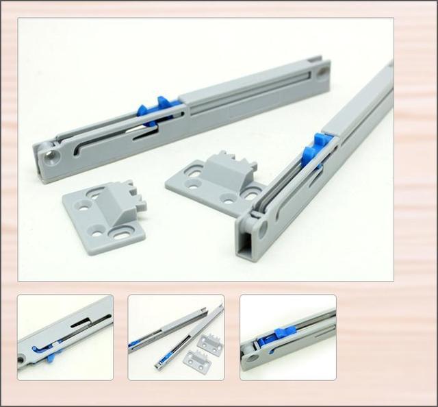 4PCS Drawer Slide Soft Close Damper Cabinet Adapter Slides Glides Sliding  Track Temax Furniture Buffer M802