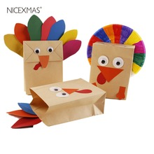 Thanksgiving DIY Crafting Accessories Materials Set Handmade Turkey Paper Bag Kids Educational Toys