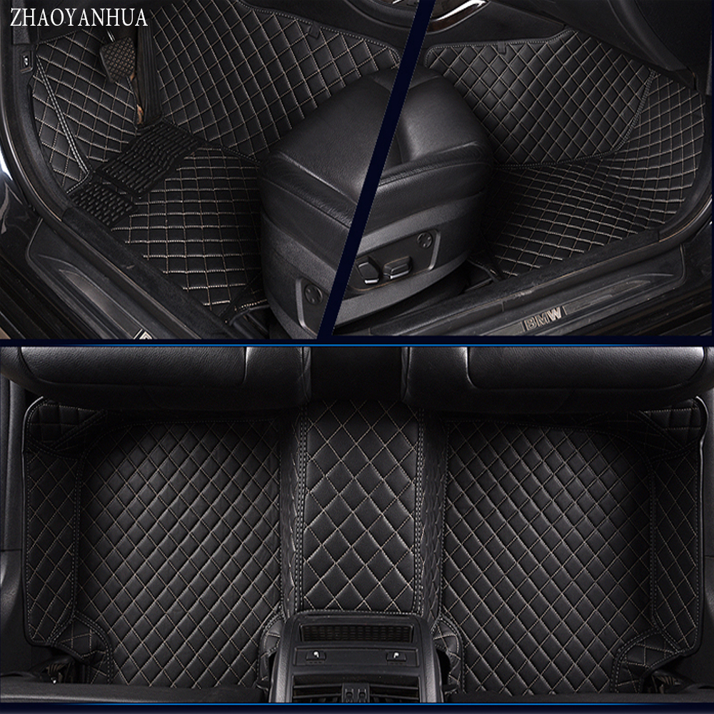 ZHAOYANHUA car floor mats for Honda Accord 6th 7th 8th 9th generation full cover case car-styling carpet rugs liners (1998-) custom make waterproof leather special car floor mats for audi q7 suv 3d heavy duty car styling carpet floor rugs liners 2006