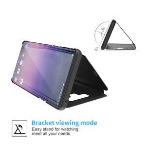 Image 2 - مرآة الرؤية الذكية الوجه الحال بالنسبة لسامسونج غالاكسي نوت 9 8 S9 S8 زائد الجلود الهاتف الحال بالنسبة لسامسونج S7 S6 حافة S10 حقيبة الهاتف Funda
