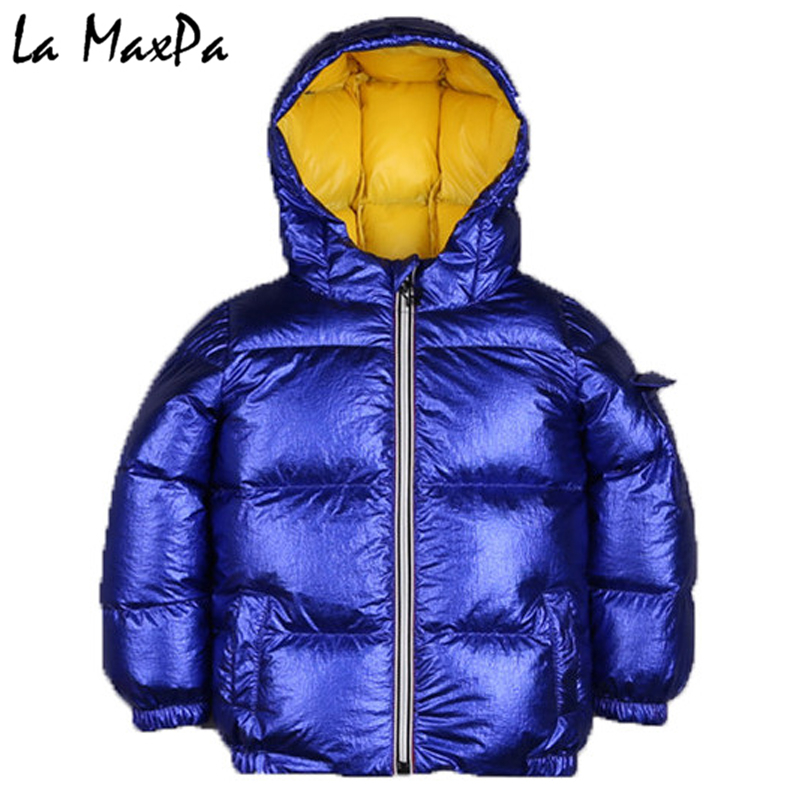 2018brand high-grade 80% duck hair boy and girl down jacket and jacket children autumn and winter hooded jacket baby down jacket цены онлайн