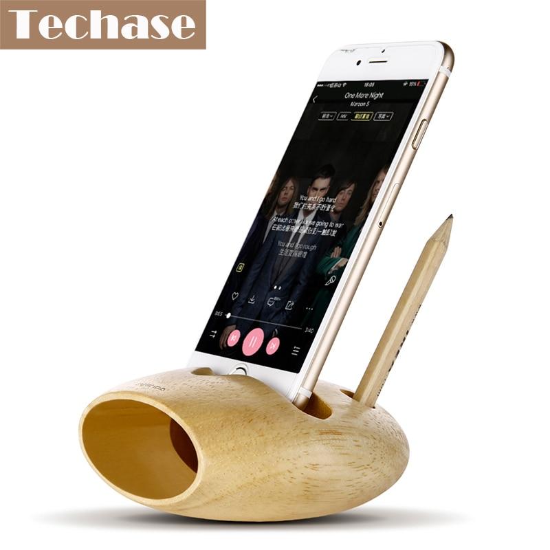Comprar soporte de teléfono de madera para iPhone para Samsung - Accesorios y repuestos para celulares - foto 1