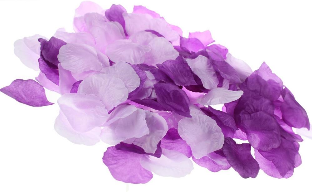 600 Mixed Plum Purple Deep Purple White Silk Rose Petals Wedding Flowers Party Decoration Confetti Bridal Shower Party Favor