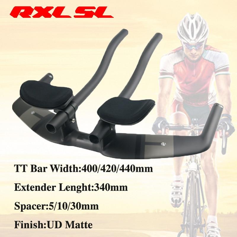 RXL SL Ciclismo Manubrio Della Bicicletta Della Strada Triathlon Manubrio UD Opaco 400/420/440mm Carbonio Extender Resto TT megafono