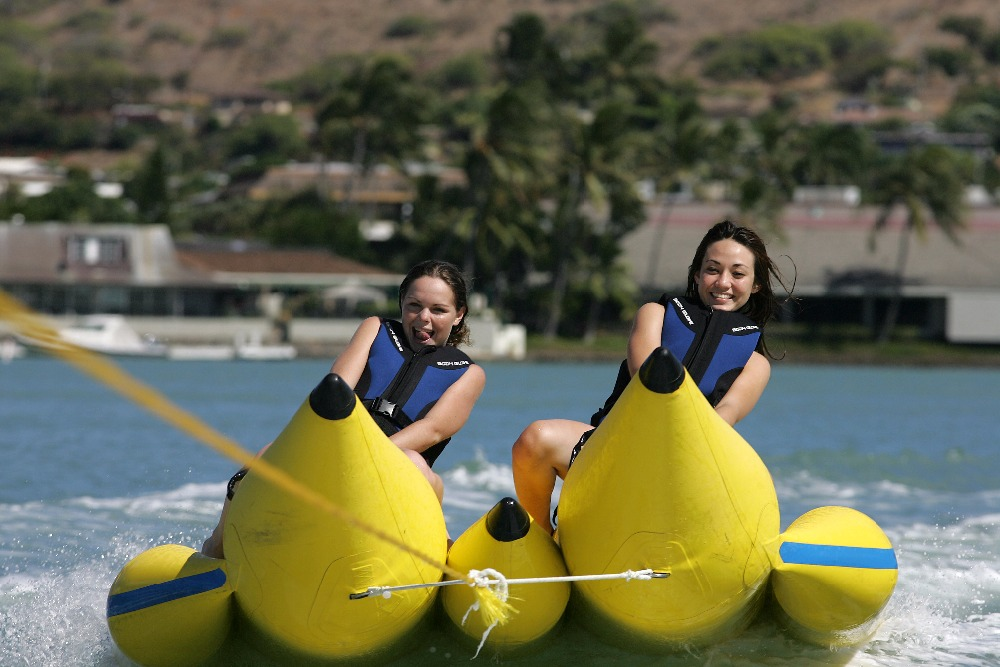 water or sea park games,inflatable banana boat double 12 seats