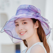 Elegant Fashion Womens Church Hats For Women Flower Hat Summer Gorras Sun Wedding Kentucky Derby Wide Brim Sea Beach