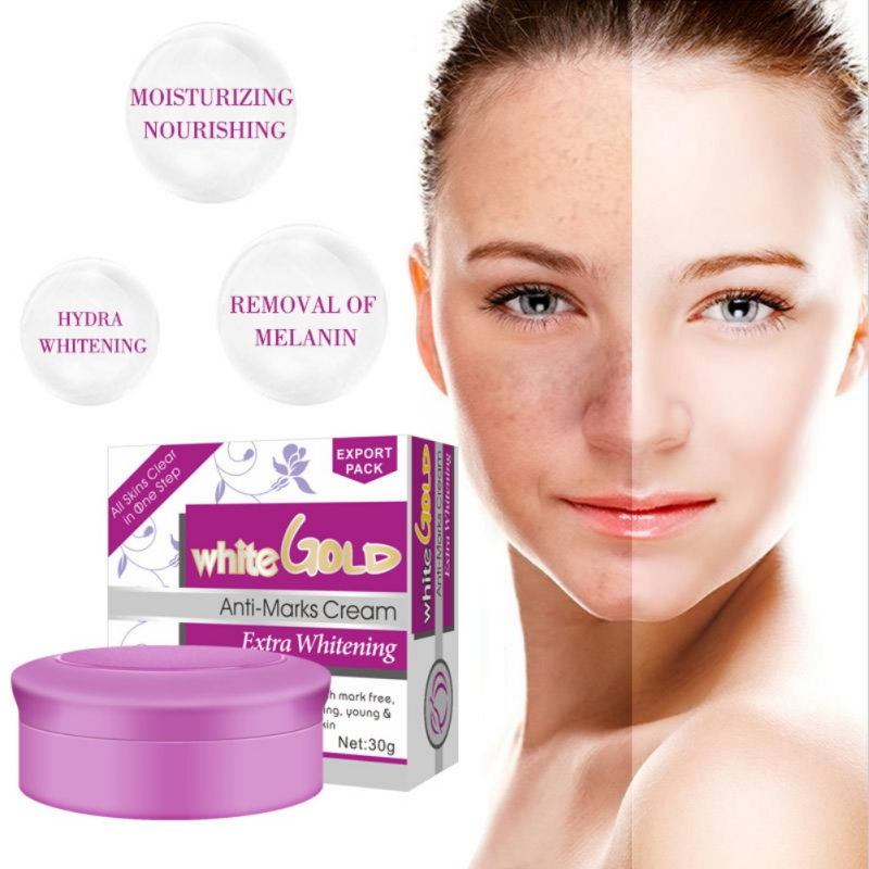 White Gold Anti-Marks Whitening Pearl Face Cream 2018 Deep Hydration And Anti-wrinkle Aging Remove Freckles Skin Care