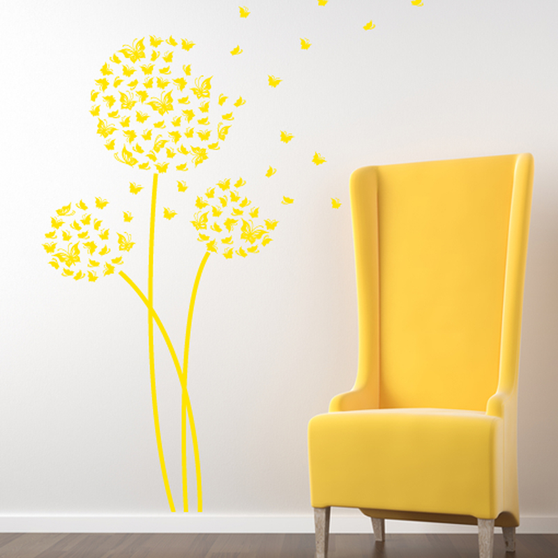 Butterfly Dandelion Wall Decals Available in 3 patterns Nursery Wall ...