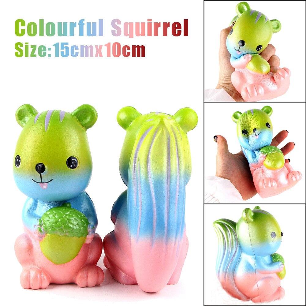 MUQGEW Rainbow Funny Toys For Children Squirrel Scented Cream Squeeze Stress Reliever Toys Speelgoed Voor Kinderen g#1