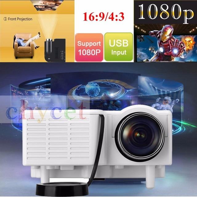 GM40 Portable Mini Projector Multimedia Cinema Digital LED Projector 320x240 VGA/USB/SD/AV/HDMI Beamer Proyector pk YG300 GM60