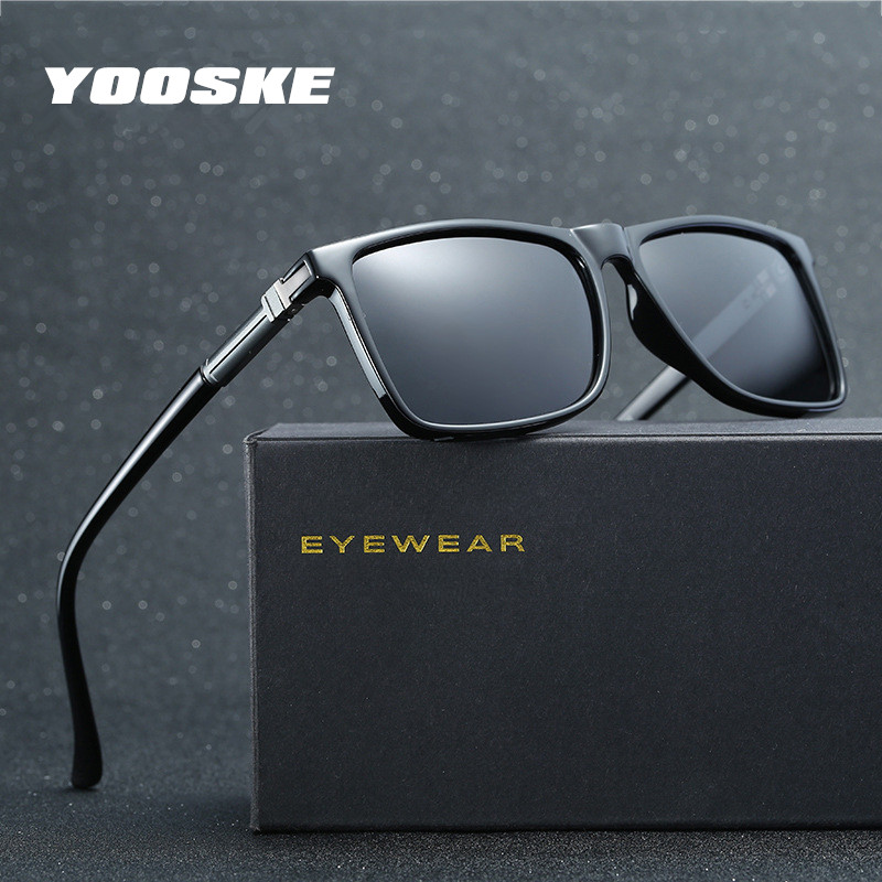YOOSKE Men HD font b Polarized b font UV400 Sunglasses Mens New font b Fashion b