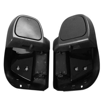 saddlebag lids speaker upper cover for harley touring road king electra street glide 2014 up gloss black motorcycle accessories Motorcycle ABS Lower Vented Fairing Glove Box For Harley Touring Road King Street Glide Electra Glide 2014-2020