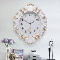 Luxury Gold Resin Wall Clock Crafts Decoration Mute Wall Clock Art Wall Mural Restaurant Home Livingroom Wall Ornaments R1535