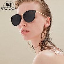 Vegoos Новый поляризованные Для женщин круглый Солнцезащитные очки для женщин Брендовая Дизайнерская обувь в стиле ретро кошачий глаз Polaroid Защита от солнца Очки #6112