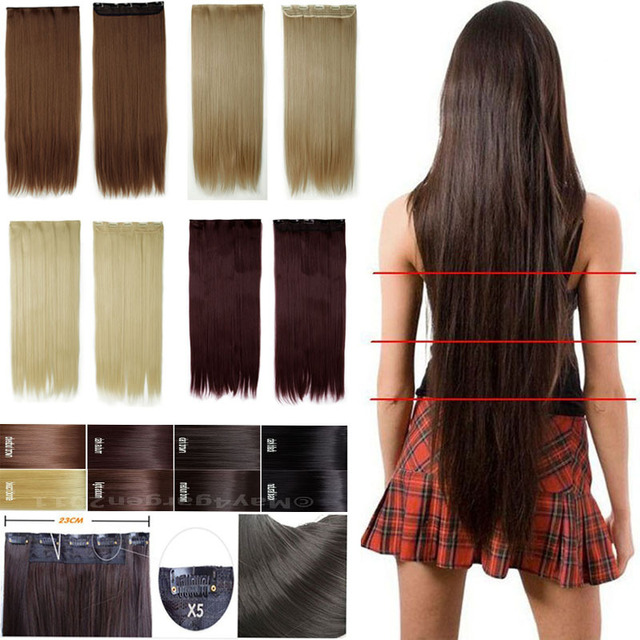 Hair Extensions Good Quality Brown Black Blonde Hair Extenison