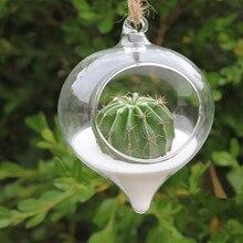 Креативная подвесная стеклянная ваза, подвесная ваза для цветов, украшение для дома, стеклянный контейнер для растений, террариума, домашний Свадебный декор