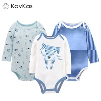 Kavkas Baby Cartoon Rompers Winter Long Sleeve Jumpsuits Girl Boy Newborn Cotton Climb Clothing Bebes Infant
